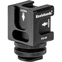 koolehaoda Hot Shoe Camera Mount Adapter - Aluminium Quadruple Cold Shoe Adapter for Lights, LED Monitors, Microphones…