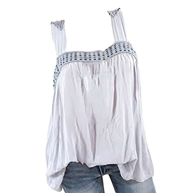 b0399f52b12a70 Highdas Sexy Fashion Women Summer Vest Top Sleeveless Blouse Casual Tank  Tops T-Shirt: Amazon.co.uk: Clothing