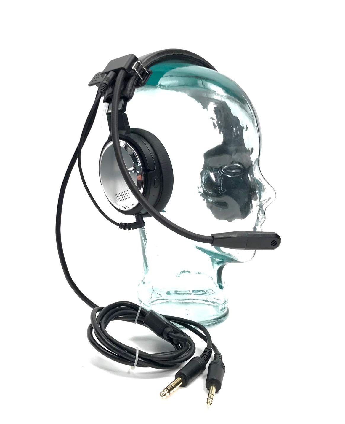 EarHart Pilot Headset ANR ANC Bluetooth Premium Aviation Headphones Active Noise Reduction MP3 Input Airplane, Helicopter