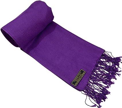 CJ Apparel Lilac Solid Colour Design Shawl Scarf Wrap Stole Pashmina Seconds NEW