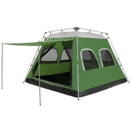 big sale 66d2f 0df1a Qisan 5-8 Person Automatic Pop Up Tent Instant Camping Tent Outdoor Quick  Open Waterproof Family Tent 4 Season Backpacking Tent with Carrying Bag for  ...