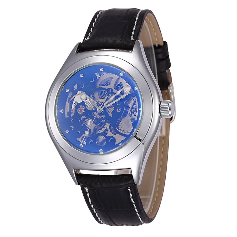 SHENHUAゴールド調自動機械腕時計スケルトンhollow-out腕時計 B06Y2WZK5Y