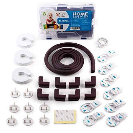 Child /& Baby proofing Hynec Home Protection Set Cupboard Locks Corner Kids