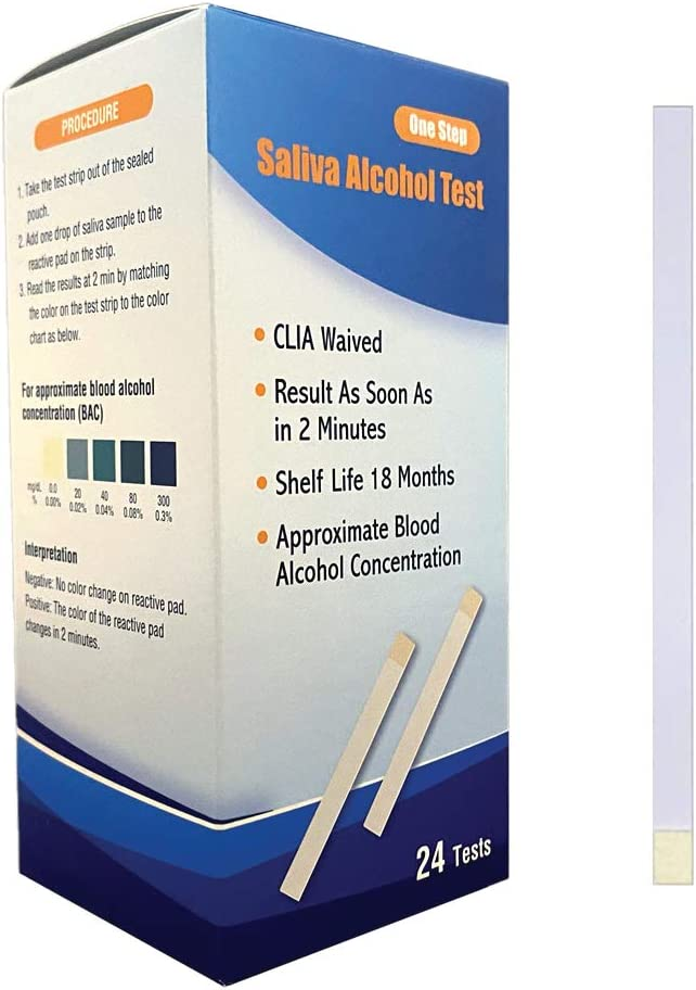 Prime Screen - High Accurate Home 2 Minute Saliva Alcohol Test - 24 Test