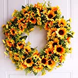 Front Door Wreath,Summer Sunflower Wreath,Year Round Wreath,Rustic Wreath,Farm House Wreath