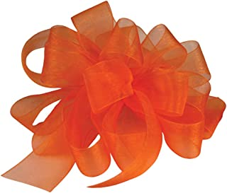 "product image for Offray Berwick LLC 427866 Berwick Simply Sheer Asiana Ribbon - 1-1/2"" W X 25 yd - Tropical Orange Ribbon"