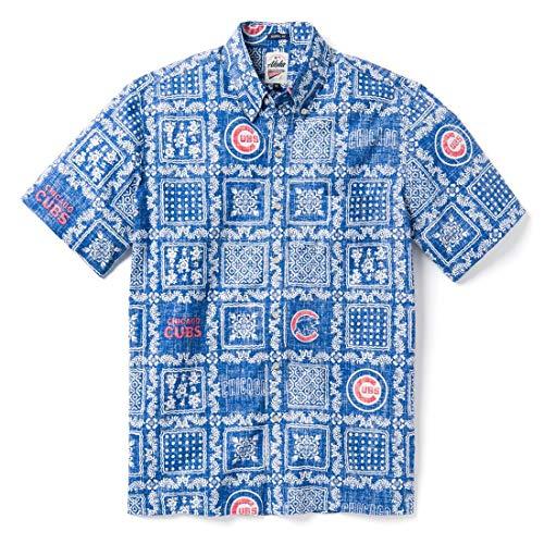 Reyn Spooner Men's Chicago Cubs MLB Classic Fit Hawaiian Shirt, Lahaina 2019, Large