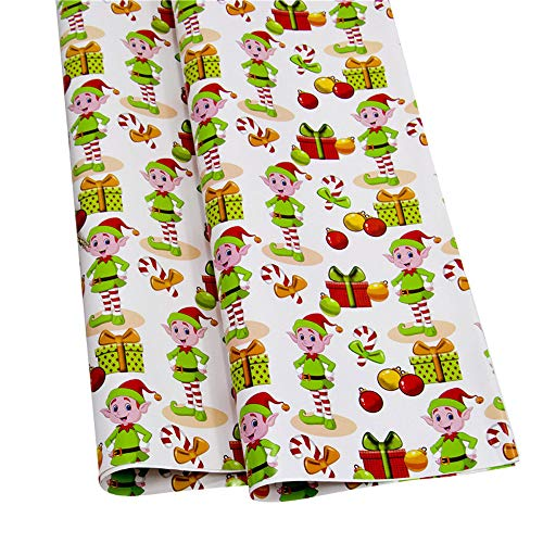 (NEARTIME Christmas Wrapping Paper Gift Present Tree Santa Wrap Decorative Xmas Party Roll (Free Size,)
