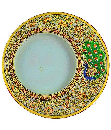 RM Marble Round Decorative Meenakari Pattern Photo Frame, beautiful Decor Festive Season Sale by RM43