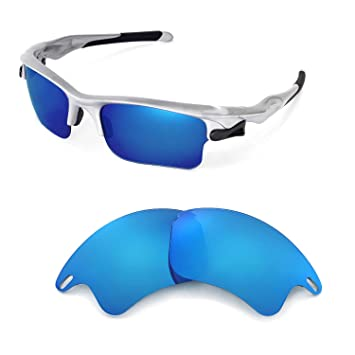 3e04624314e25 Walleva Replacement Lenses for Oakley Fast Jacket XL Sunglasses -Multiple  Options (Blue)