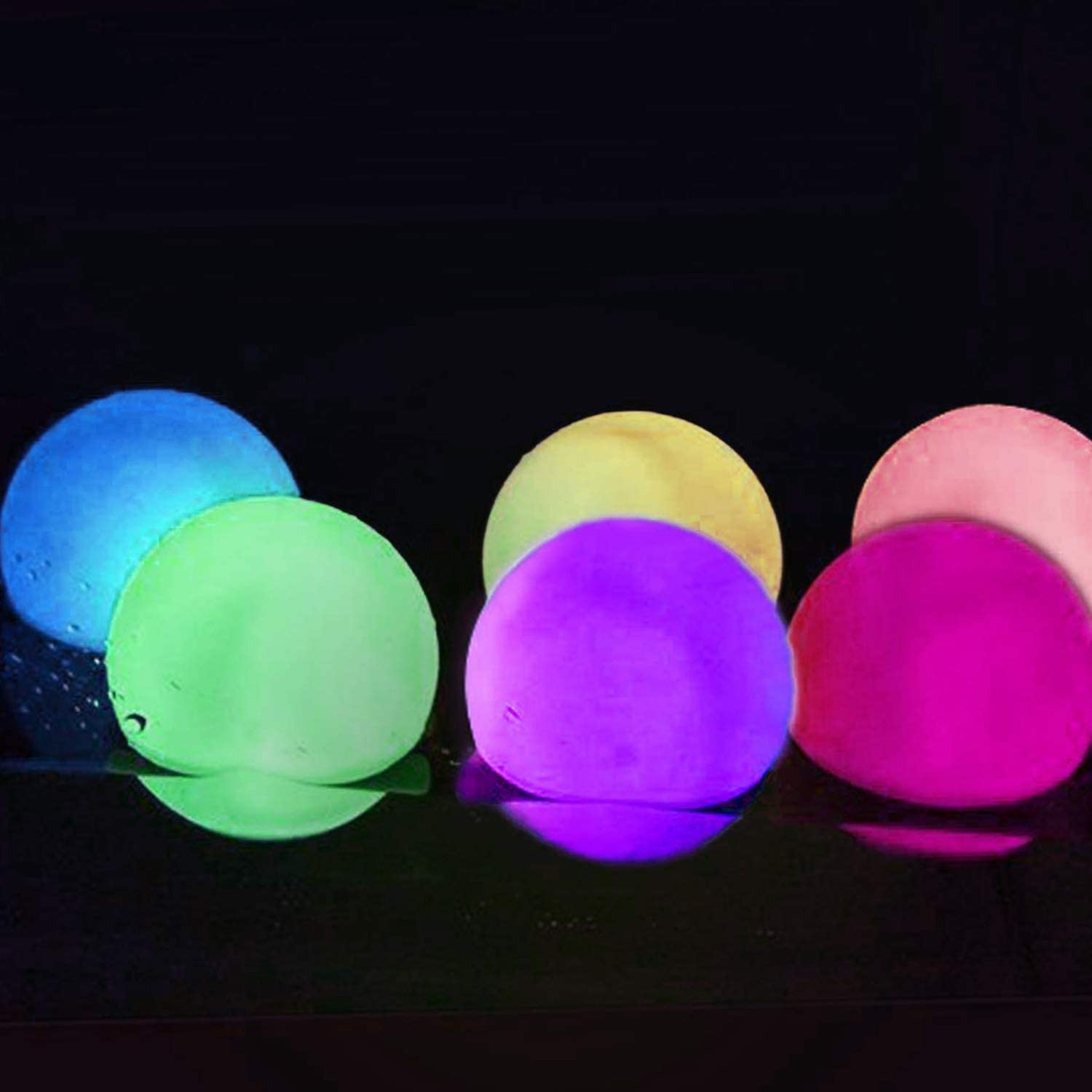 8inch-Sphere, 1 Pack IP68 Waterproof Floating Pool Light Rechargeable Moon Lamp Perfect for Home 16 Color Changing Alwoa LED Ball Light Party Garden