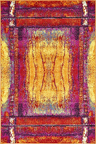 Unique Loom Metro Collection Rustic Abstract Vintage Yellow Area Rug (4′ x 6′) Review