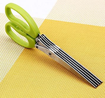 Honey home- 5 Blades Stainless Steel Kitchen Shallot Scissor/ Herb