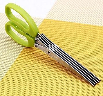 Honey home- 5 Blades Stainless Steel Kitchen Shallot Scissor/ Herb