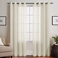 Simple Design but Elegant Sheer Curtains for Living Room Bedroom 2 Panels Sheer Window Curtain with Eyelet