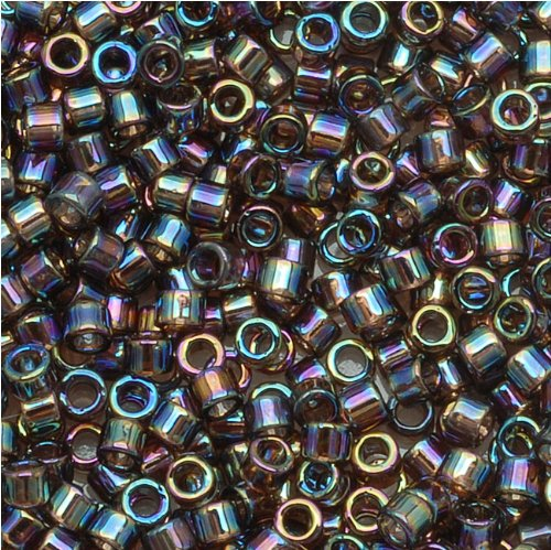 Miyuki Delica Seed Beads 11/0 Transparent Bronze AB DB100 7.2 Grams - Delica Bead Loom