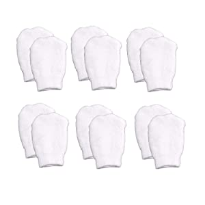 White Newborn Baby Mittens by Nurses Choice (Includes 6 Pairs of No Scratch Cotton Mittens)