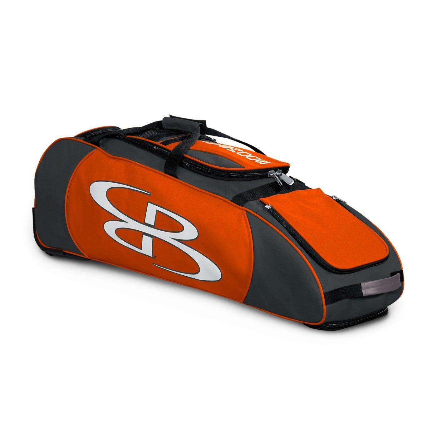 Boombah Spartan ローリングバットバッグ 野球用 ソフトボール用 38インチ×12-1/2インチ×12インチ 43種類のカラーオプション 4本のバット他  Dark Charcoal/Orange B01NBE45LH
