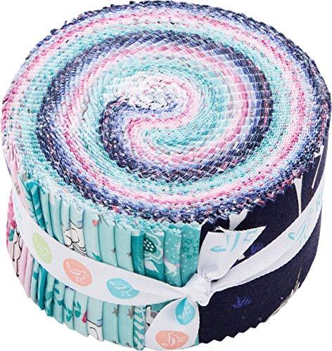 Kelly Panacci My Unicorn Rolie Polie 40 2.5-inch Strips Jelly Roll Riley Blake Designs RP-8200-40