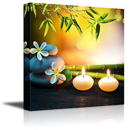 Amazon.com: Wall26 - Canvas Prints Wall Art - Relaxing Spa with Zen ...
