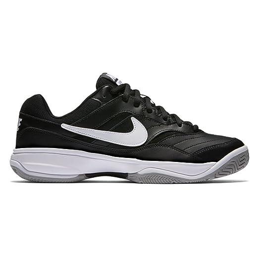 NIKE Men's Court Lite Tennis-Shoes, Black/White/Medium Grey, 8