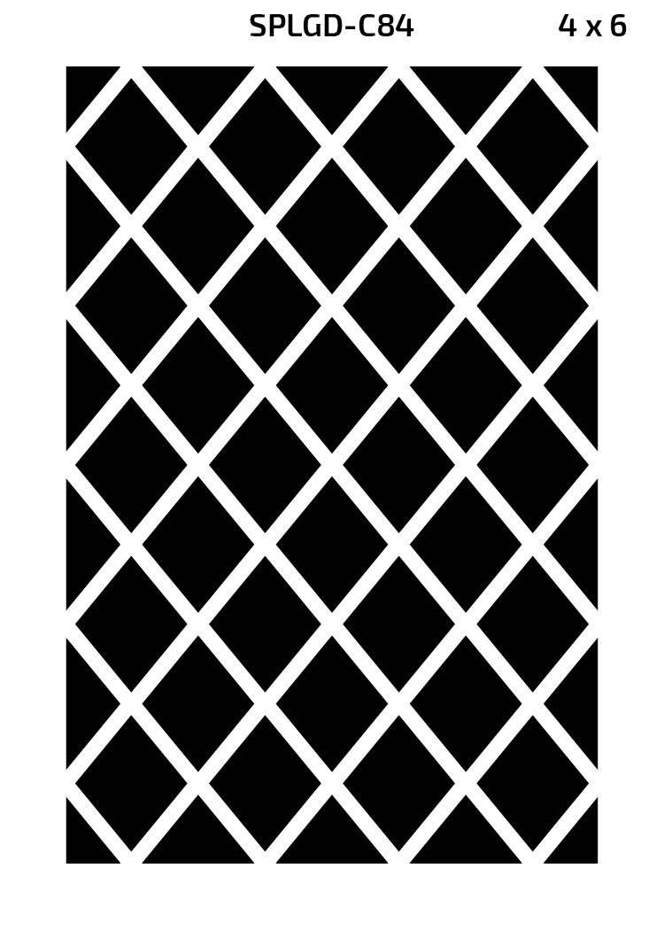 Green Decore Diamond Outdoor/Light Weight/Reversible Eco Plastic Rug, (4 x 6, Black/White) by Green Decore