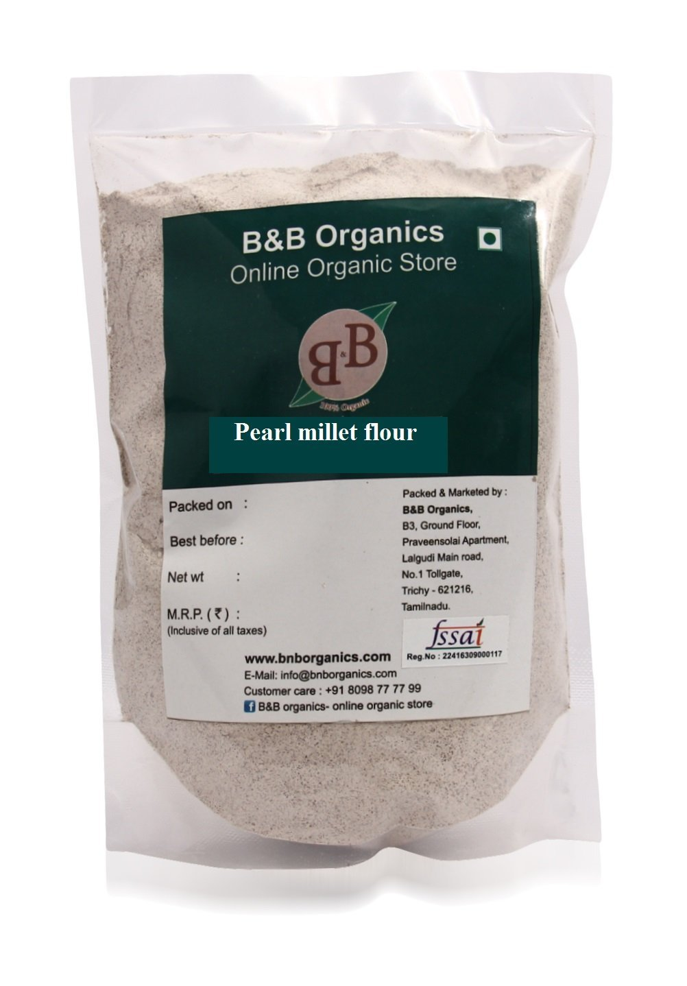 B&B Organics Pearl Millet Flour 5 kg