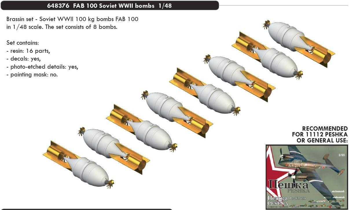 EDUARD BRASSIN 1//48 FAB-100 Soviétique WWII BOMBES # 648376