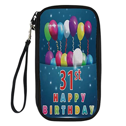 IPrint 31st Birthday DecorationsJoyful Occasion Party Theme With Colorful Balloons Flying 31 Year