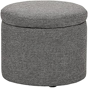 Cool Amazon Com Efd Small Round Ottoman Lift Open Lid Wood And Gmtry Best Dining Table And Chair Ideas Images Gmtryco