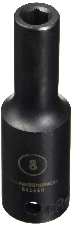 GearWrench 84566N 1//2 Drive 6 Point Deep Impact Metric Socket 8mm Black
