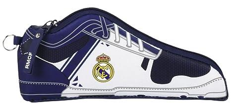 Real Madrid - Estuche portatodo forma zapatilla, 1ª equipacion temporada 2016/2017 (Safta