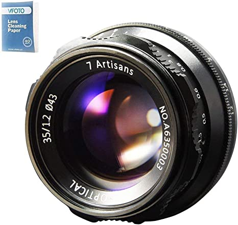 7artisans 35mm F1.2 APS-C Manual Fixed Lens for Sony E Mount A7 ...