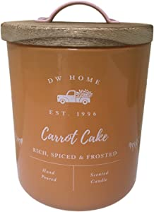 DW Home Farmhouse Classics Collection Single Wick Wood Lid Candles (Carrot Cake)