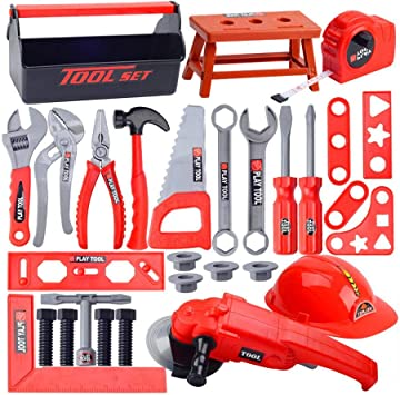 Caja de herramientas para niños, herramienta de reparación de simulación de bebés, taladro, destornillador, reparación, juguete doméstico: Amazon.es: Bricolaje y herramientas