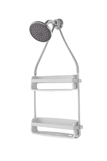 umbra flex shower caddy grey