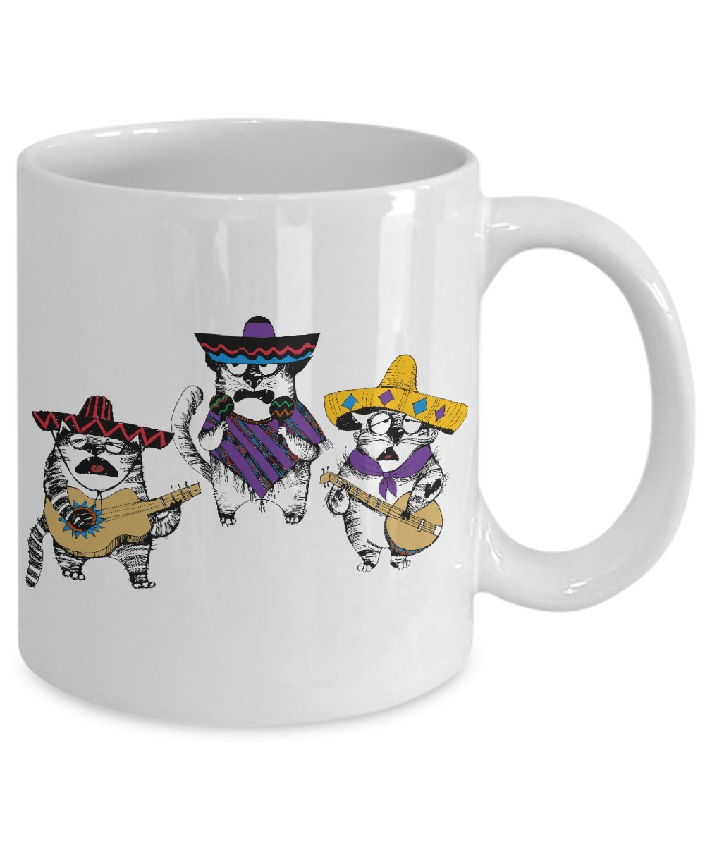 Amazon.com: Funny Mariachi Cat Coffee Mug - Taza de cafe chistosa de gato - Cinco de mayo: Kitchen & Dining
