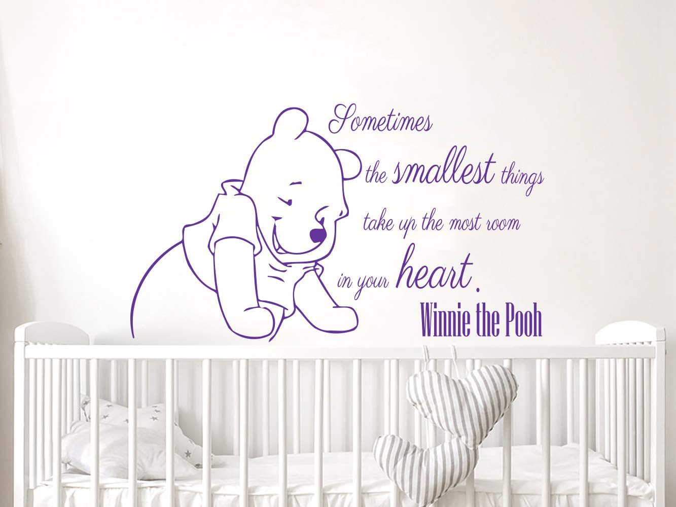 a872a3cc92c0 Wall Decals Quotes Vinyl Sticker Decal Quote Winnie the Pooh Sometimes the  smallest things take Nursery Baby Room Kids Boys Girls Home Decor Bedroom  Art ...