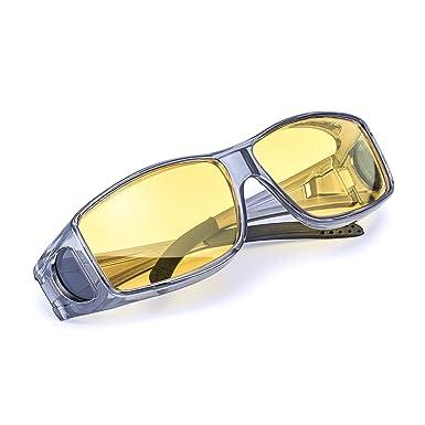 Myiaur Wrap - Around Gafas Nocturnas Conduccion Polarizadas de Noche Gafas para Usar Sobre Gafas Graduadas (gris) : Amazon.es: Ropa y accesorios