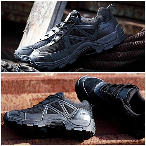 FREE SOLDIER Rapid Non-slip Camping Hiking Mountain All-terrain Off-road Shoes Desert Boots Black