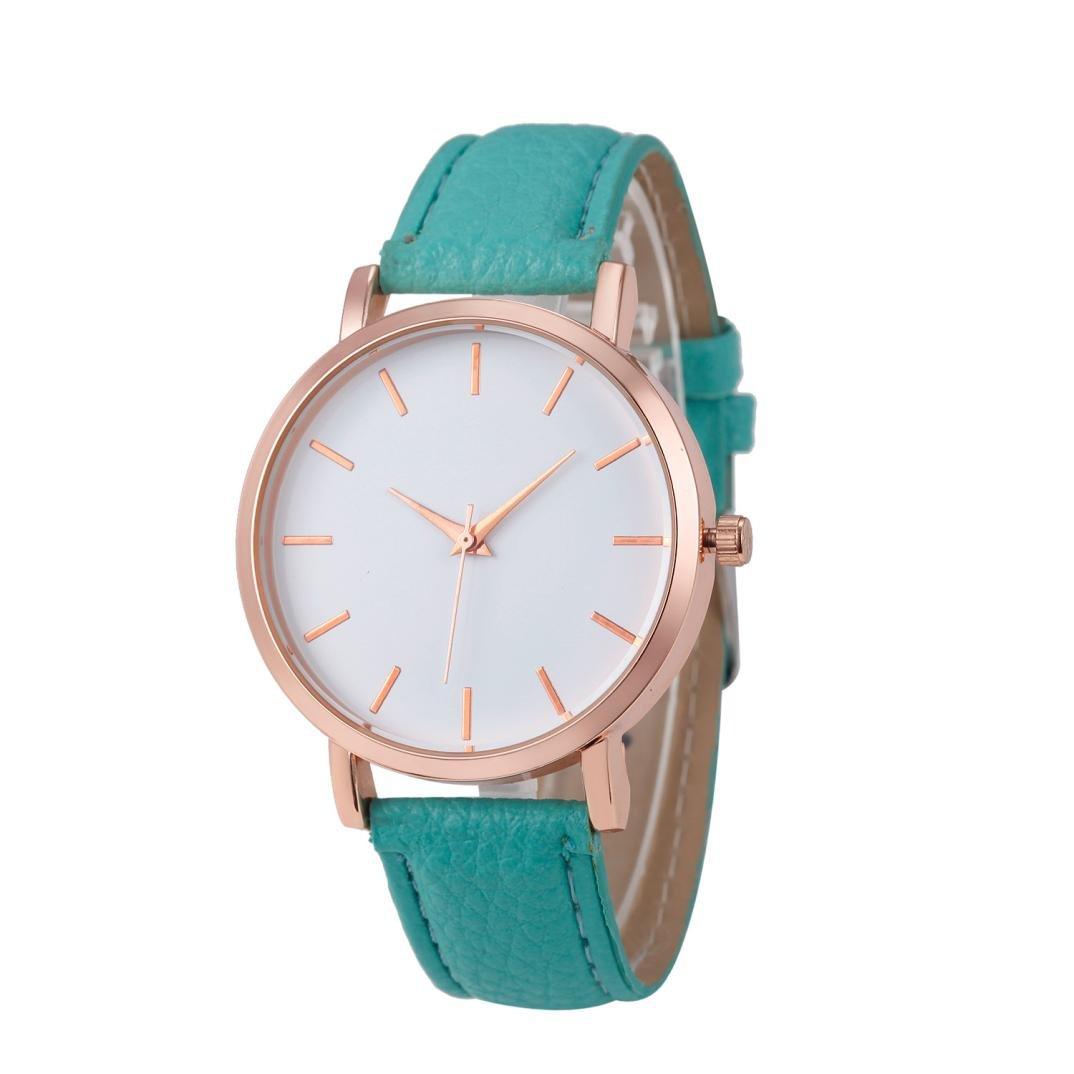 Relojes Pulsera Mujer,Xinan Cuero PU Acero Inoxidable Analógico Cuarzo Reloj (Azul): Amazon.es: Deportes y aire libre