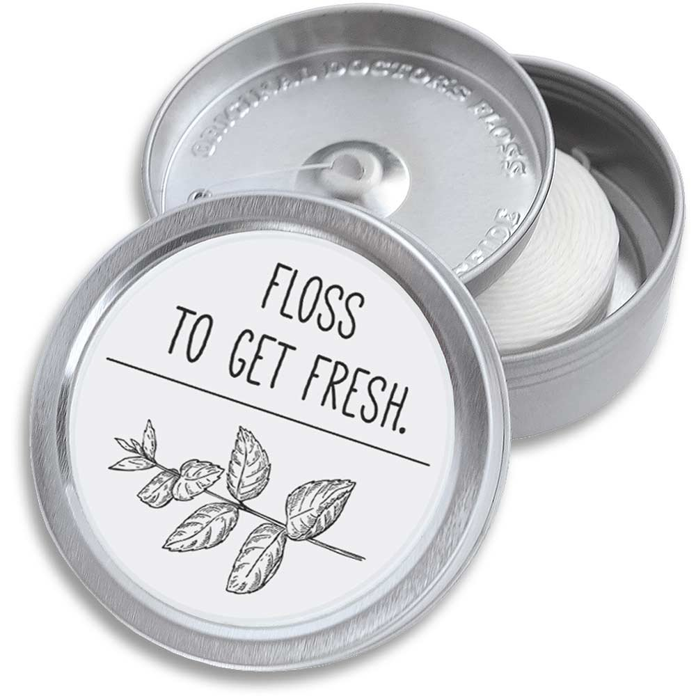Doctors Floss Mint Dental Floss Pack   Refillable Holder & Dispenser   Eco-Friendly Packaging   Vegan Tooth Floss Oral Health Care Kit   220 Yards (2x100m) (Pure White)
