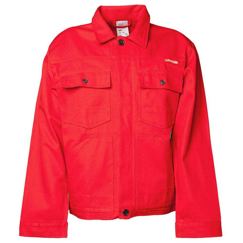 Planam 108052'BW 290' Waisted Jacket, 52, Mid Red