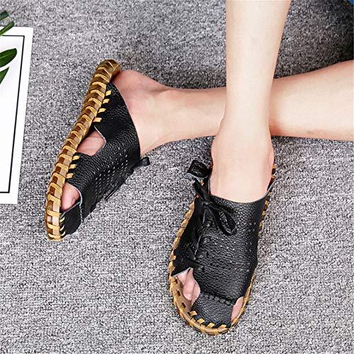 Hombres Negro 3 para Transpirable Negros Libre De Wangcui Al Aire Antideslizantes tamaño Sandalias Negro 41 Deporte Casual EU Zapatos 1 Zapatillas Color qvx0ZxY