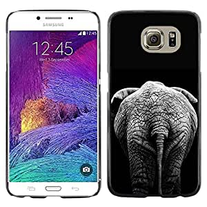 Paccase / SLIM PC / Aliminium Casa Carcasa Funda Case Cover para - Black Minimalist Africa Grey - Samsung Galaxy S6 SM-G920