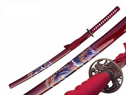 Amazon.com : Samurai Sword Katana RED Dragon Toledo Katana ...