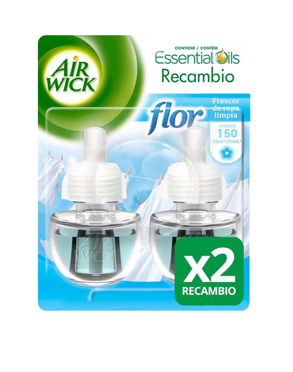 Air Wick Ambientador Elé ctrico Recambio Duplo Oasis Turquesa, 2 x 19 ml - Total: 38 ml Reckitt Benckiser Spain 3039749 AirWick Eléctrico Fragancia Cambiante Life Scents