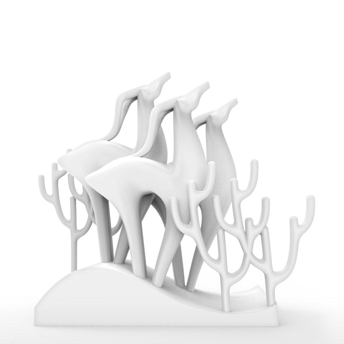 Tomfeel Elk Group Statue 3D Printed Sculpture Creative