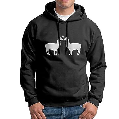 Amazon.com  Uo Uoyng Llama Love Men s Hoodies Pocketless Pullover ... 87559d6f4660