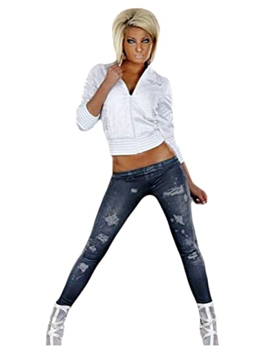 NEW Mujer Jeans Look Leggings Pantalones Tubo Leggings Leggins treggings Jeggings